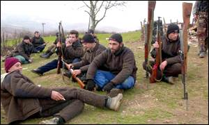 Ethinc Albanian rebels in Presevo valley
