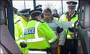 Tommy Sheridan and police