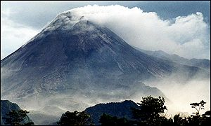 Smoke from Mount Merapi