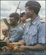 Angolan army on patrol