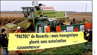 Greenpeace protesting near Verdes, France