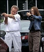 Ridley Scott and Julianne Moore