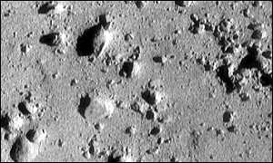 View of the asteroid's surface