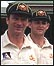 Steve Waugh and Adam Gilchrist