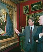 PM Tony Blair at the National Gallery of Scotland