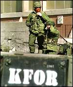 K-For soldier in Kosovo