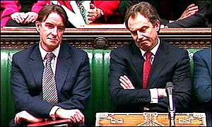 Peter Mandelson and Tony Blair
