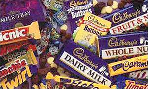 Range of Cadbury chocolate products