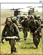 KFOR troops in the Balkans
