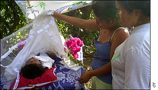 Maia Tomasa mourns her six-year-old nephew, Melvin
