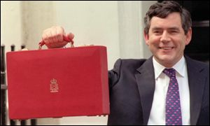 Gordon Brown on budget day 2000