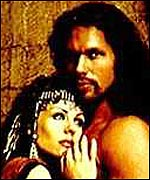 Elizabeth Hurley as Delilah and Eric Thal as Samson in the 1996 Nicholas Roeg film
