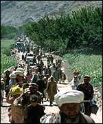 Refugees in the Panjshir valley