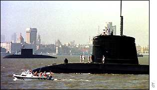 French submarine Perle at Bombay harbour