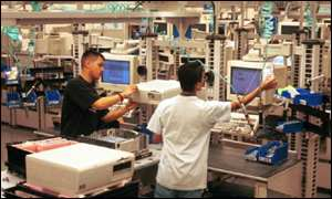 Workers in Dell factory
