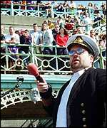 Chris Moyles on Roadshow in Brighton in 1999
