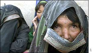Afghan refugee women in Herat