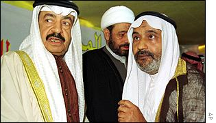 Prime Minister Khalifa al-Khalifa (left) is thought to oppose parts of the reform package