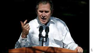 President Bush announces bombings against Iraq