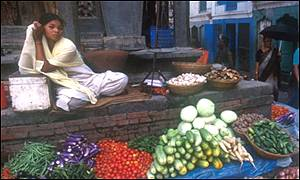 Market stall in Nepal