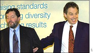 David Blunkett and Tony Blair