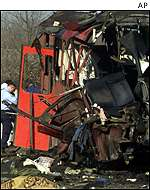 Remains of the bus