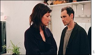 Scene from Patrice Chereau's Intimacy with Kerry Fox and Mark Rylance