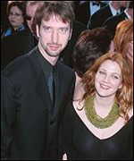 Drew Barrymore with fianc� Tom Green