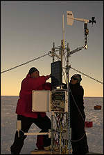 Iceberg weather station
