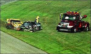 National Association  Stock  Auto Racing Radio on Dale Earnhardt S Stricken Car After His Last Lap Crash