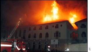 Image result for pretoria station burning