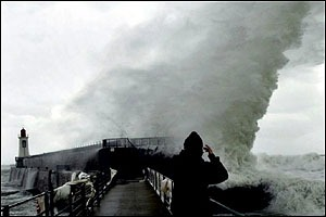 Storm on French coast BBC