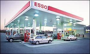 An Exxon petrol station in Canada