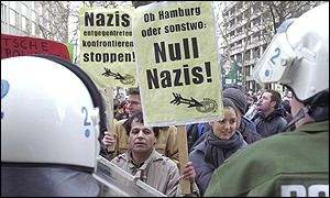 anti-nazi rally in Hamburg