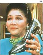 Imelda Marcos and her shoe phone