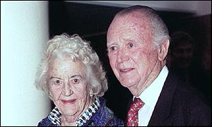 Sir John Mills and wife Mary