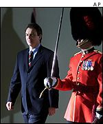Tony Blair and guard