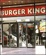 Burger King restaurant in Piccadilly Circus, London