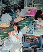 Indonesian workers in Nike factories