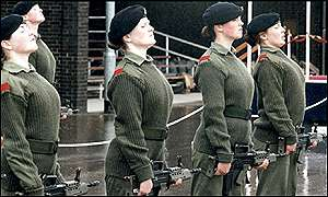 Women soldiers undergo training