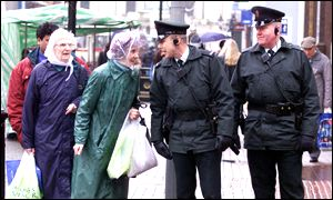 RUC officers on the streets on the eve of a recruitment campaign