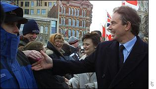 Tony and Cherie Blair in Ottowa