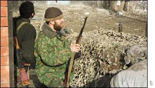 Chechen rebels in Grozny