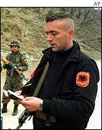 Kosovo Albanian rebel from UCPMB group
