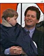 Former US President Bill Clinton's half-brother Roger with his son