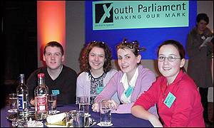James Scroggie (left), Michelle Blow, Lisa Matthews, Rebecca Davies