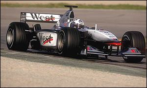 David Coulthard in the McLaren-Mercedes MP4-16
