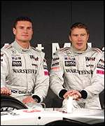 David Coulthard (left) and Mika Hakkinen