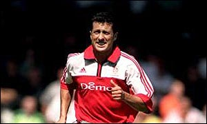 Fulham player-coach John Collins scored
