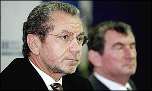 Alan Sugar amd Spurs' director of football David Pleat
